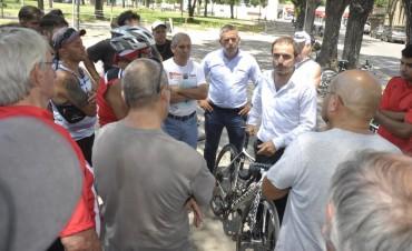 Abella se reunió con integrantes de la Asociación Ciclista Campanense