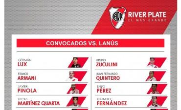 Los convocados de River Plate para visitar a Lanús por la Superliga