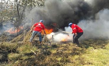 Con un rápido accionar se sofocó con éxito el incendio en la Reserva Natural Otamendi