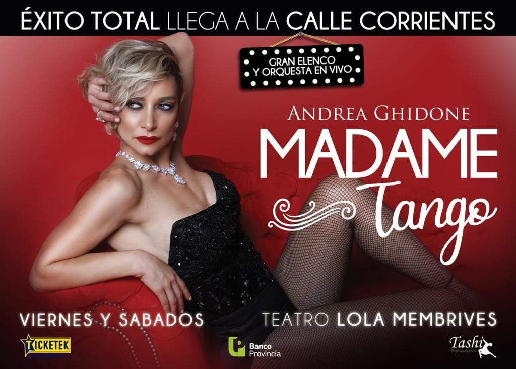 """Vecinos podrán disfrutar del espectáculo musical """"Madame Tango"""""""