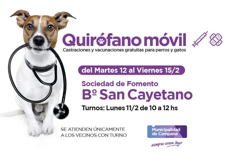 El quirófano móvil del Municipio visitará el barrio San Cayetano