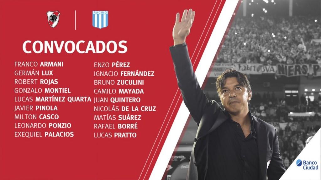 River Plate recibe la visita del líder Racing Club