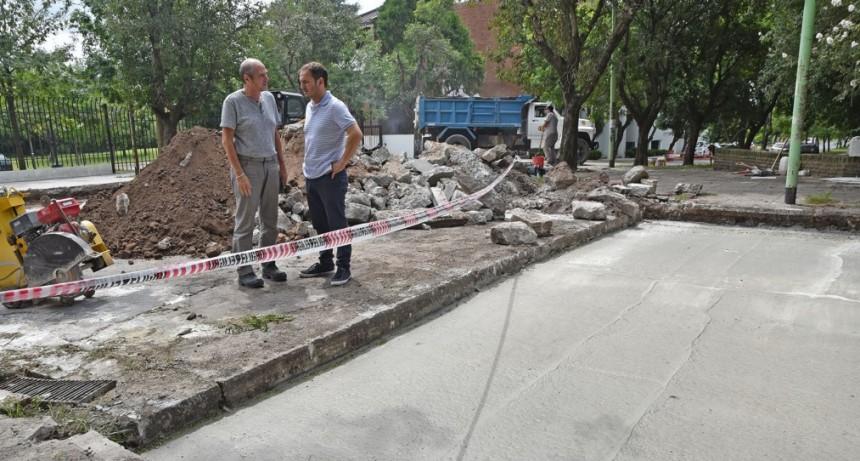 Plan de Bacheo Urbano: colocaron el hormigón en 25 de Mayo y Balcarce