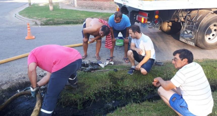 El Municipio realizó limpieza de pluviales en el barrio Lubo