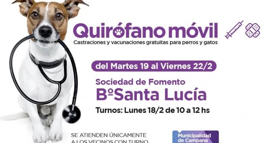 El quirófano móvil del Municipio visitará el barrio Santa Lucía