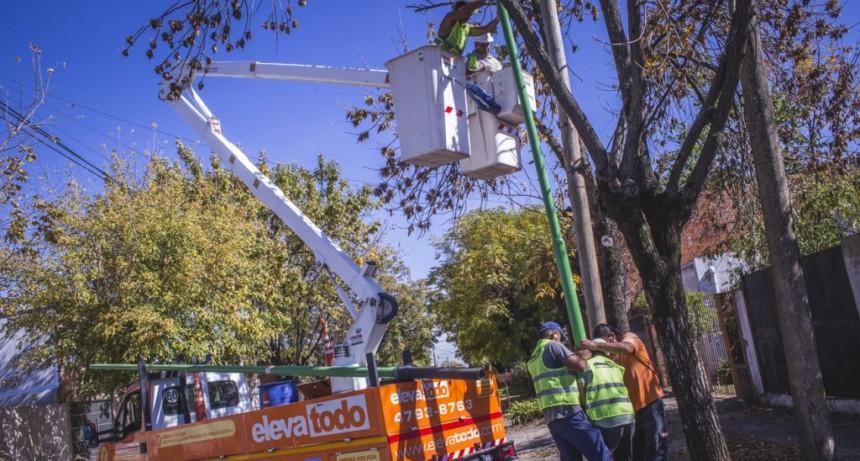 Este año, el Municipio colocará 1.250 nuevas luminarias en el casco urbano y los barrios