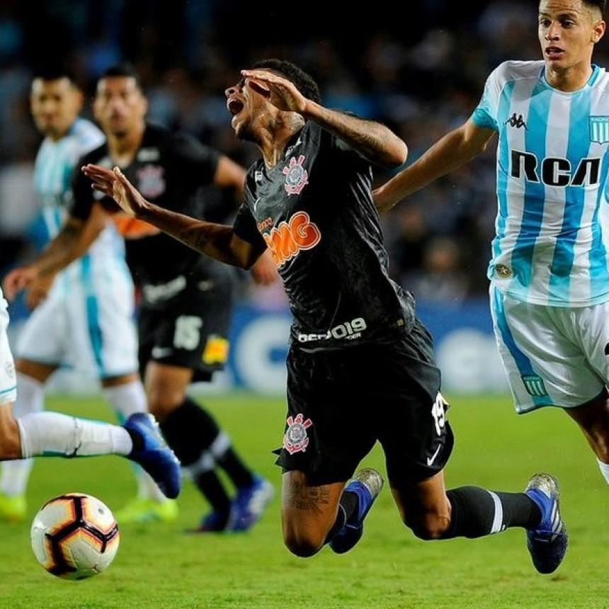 Corinthians de Brasil eliminó a Racing Club de la Copa Conmebol Sudamericana