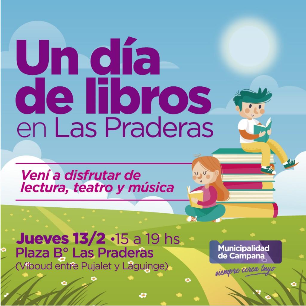"""Este jueves, Las Praderas vivirá """"Un día de libros"""""""