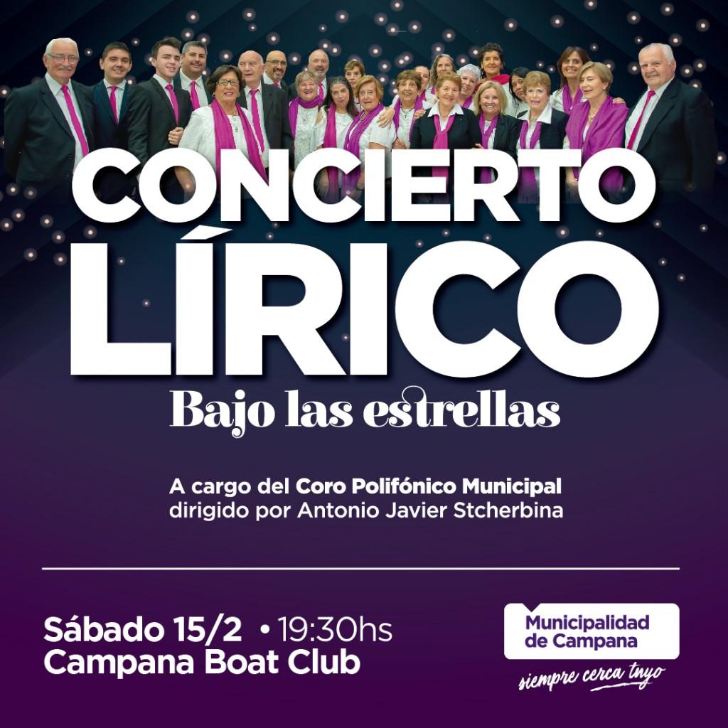 """Este sábado se realizará un concierto lírico """"bajo las estrellas"""""""