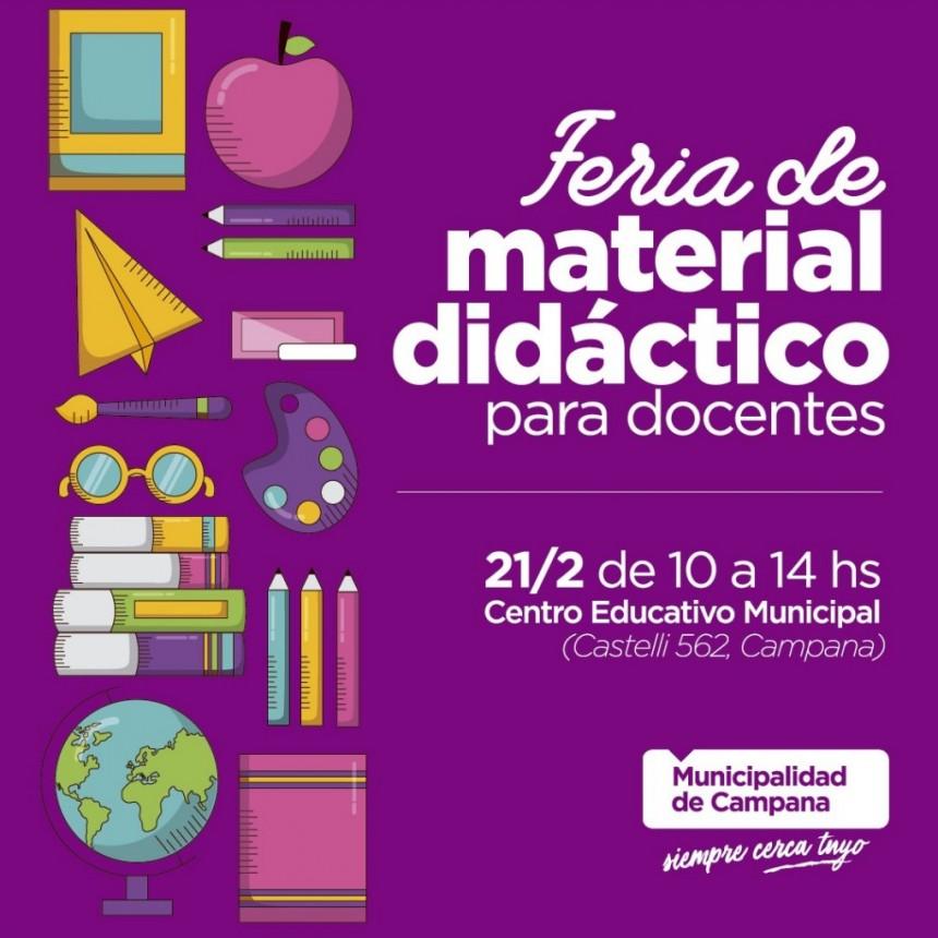 Invitan a los docentes a una feria de material didáctico