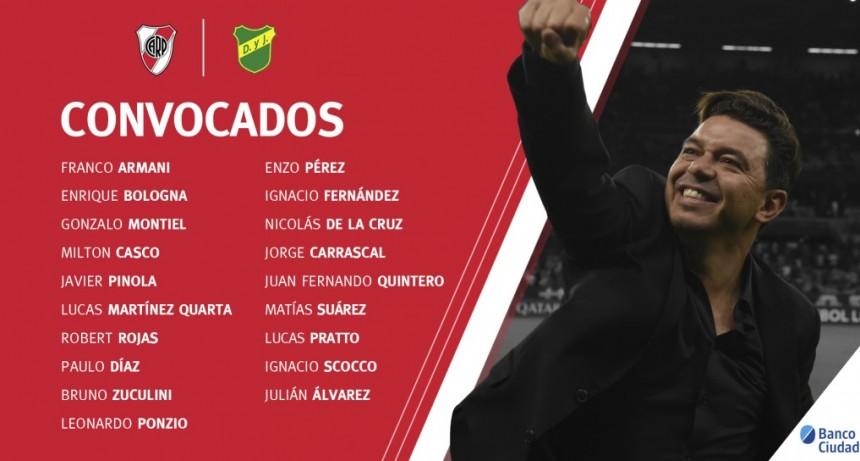 River Plate con plantel confirmado para enfrentar a Defensa y Justicia