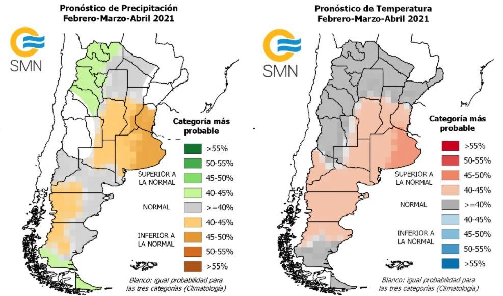 Pronóstico Climático para el trimestre febrero-marzo-abril 2021
