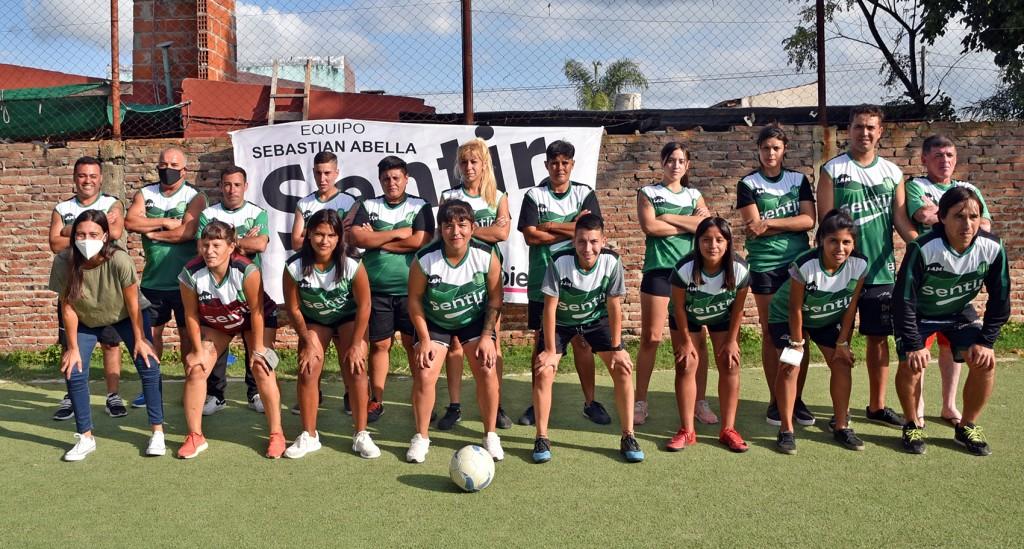 Elisa Abella participó de la presentación del seleccionado femenino de fútbol