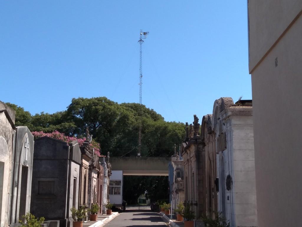 El Municipio instaló cámaras de seguridad recuperadas en el Cementerio