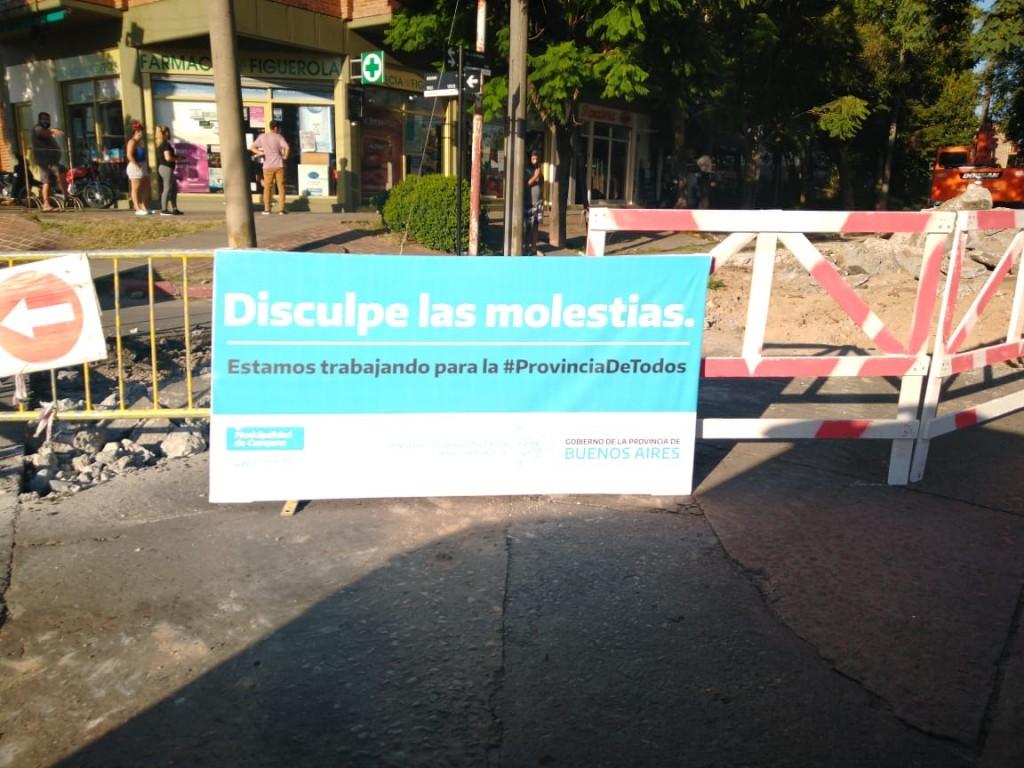 Colella :  Abella se saca fotos con obras que hace con fondos provinciales