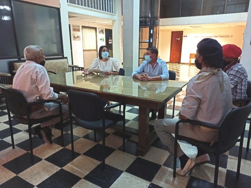 Casaretto y Amaya recibieron un petitorio de tradicionalistas para la reapertura de los centros criollos