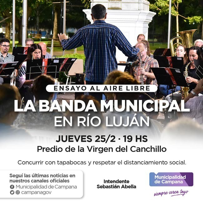 La Banda Municipal llega mañana a Río Luján