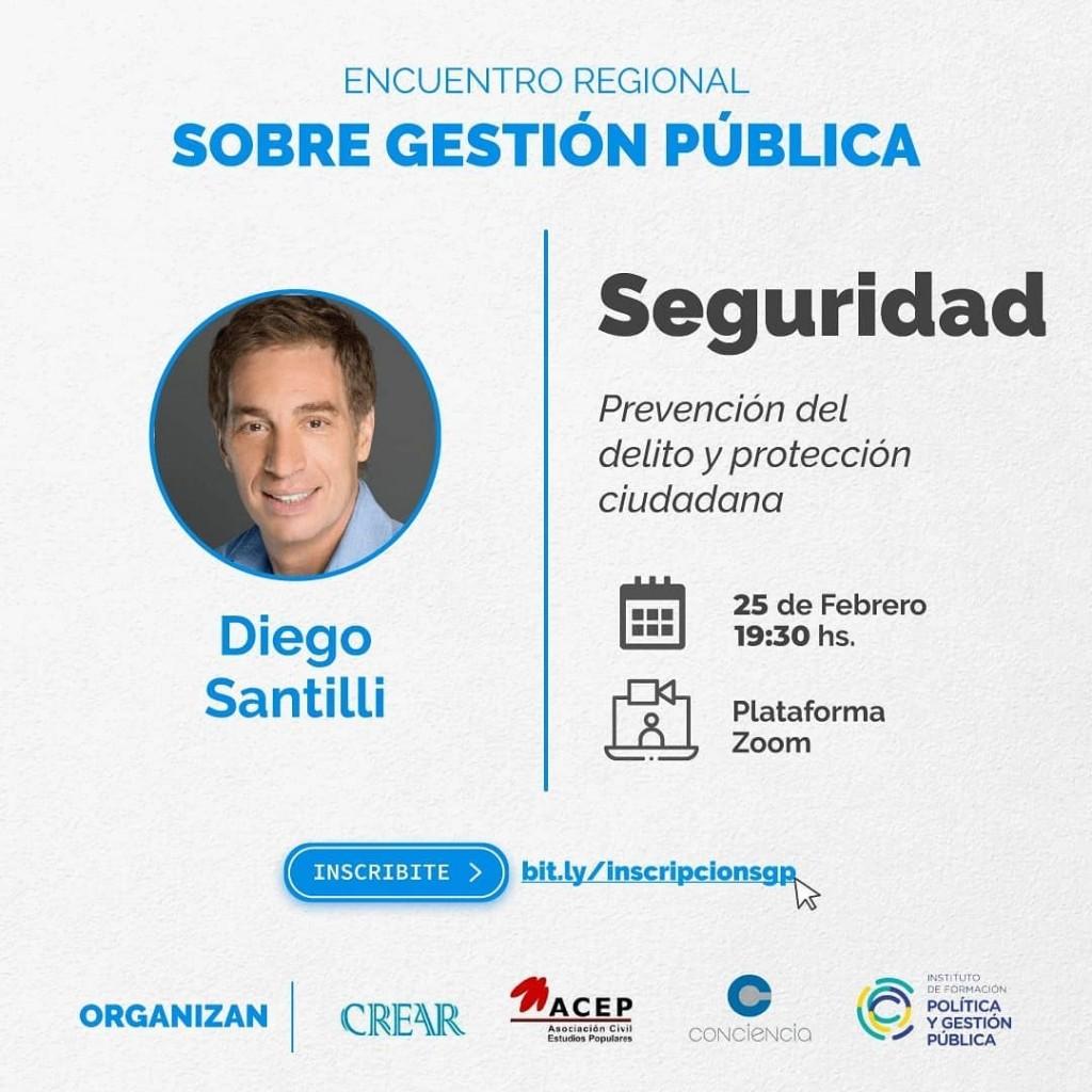 El vicejefe de gobierno de Buenos Aires expondrá sobre seguridad, prevención del delito y protección ciudadana