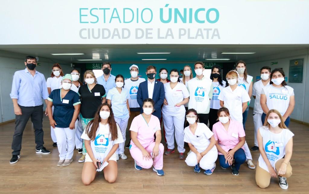 LA PLATA : Kicillof visitó el operativo de vacunación en el Estadio Único Diego Armando Maradona