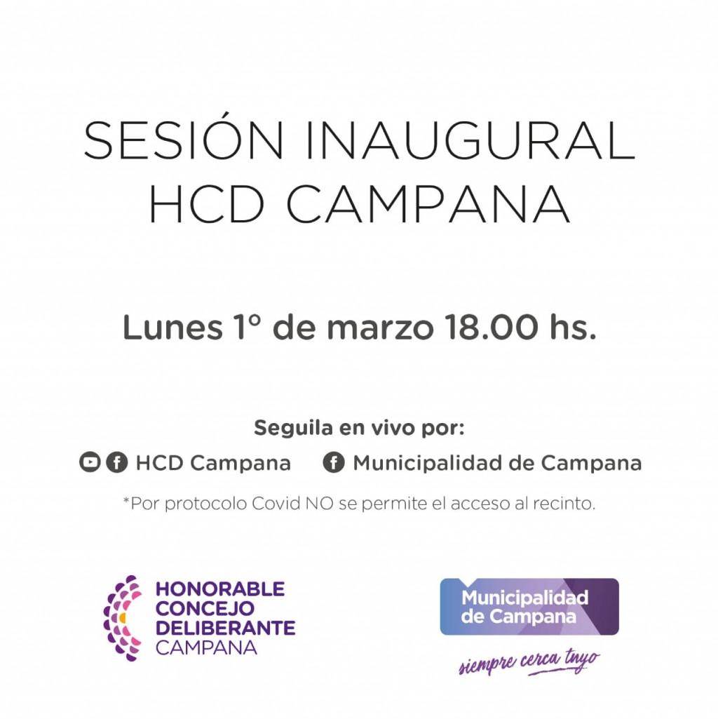 El Intendente inaugurará mañana el año de sesiones del HCD