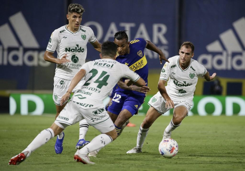 Boca Juniors empató con Sarmiento de Junín
