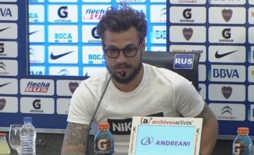 DANIEL OSVALDO EN CONFERENCIA DE PRENSA LUEGO DEL 5 A 0