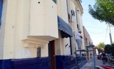 Se realizan obras de embellecimiento en la Comisaría Local