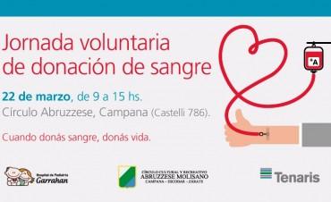 Jornada de Donaciòn voluntaria de sangre en el Cìrculo Abruzzese