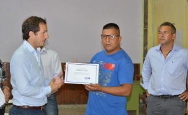 El Intendente reconoció a la sociedad de fomento de San Jacinto en su 40º aniversario