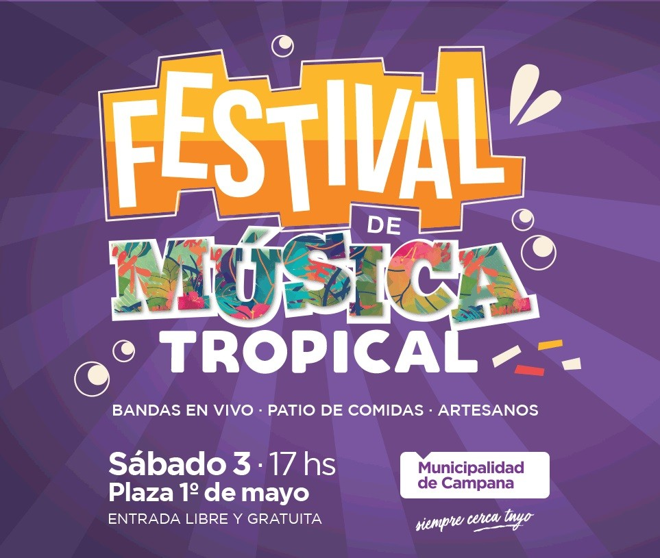 La música tropical llega a la plaza 1º de Mayo