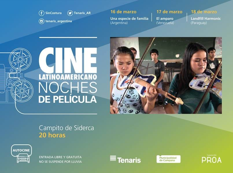 Se viene el Cine Latinoamericano al Campito de Siderca