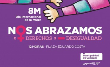 Invitan a participar de un abrazo simbólico por el 8M