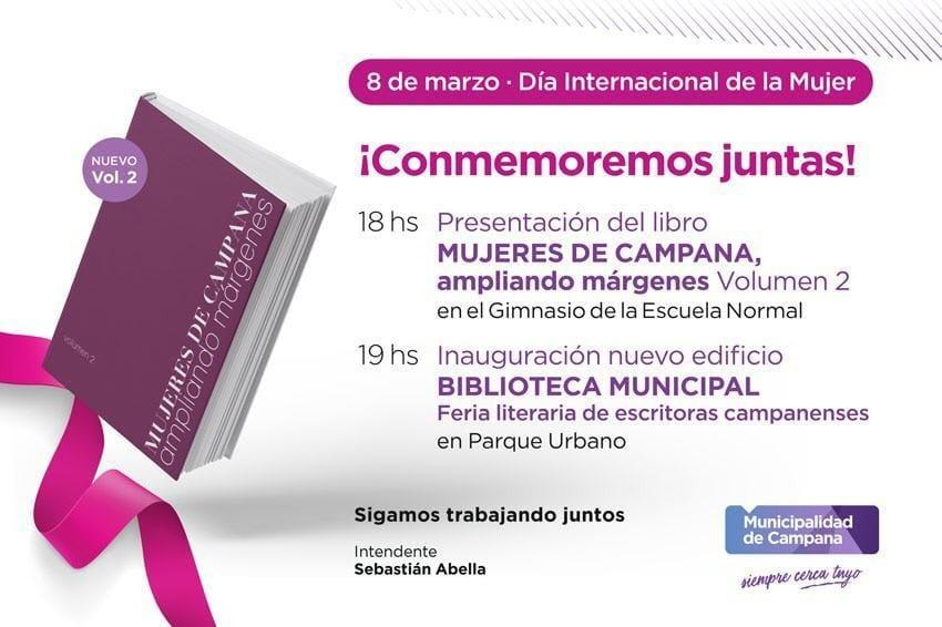 """Mañana se presentará la segunda edición del libro """"Mujeres de Campana, ampliando márgenes"""""""