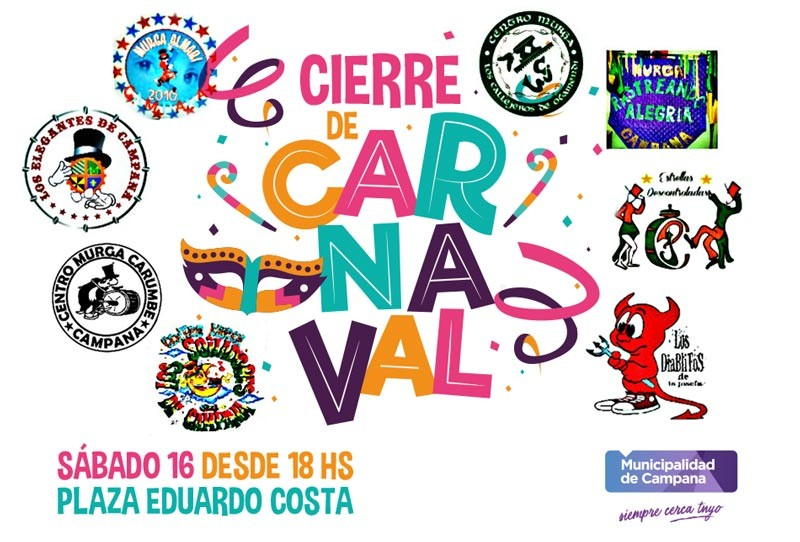 El Carnaval llega este sábado a la plaza Eduardo Costa