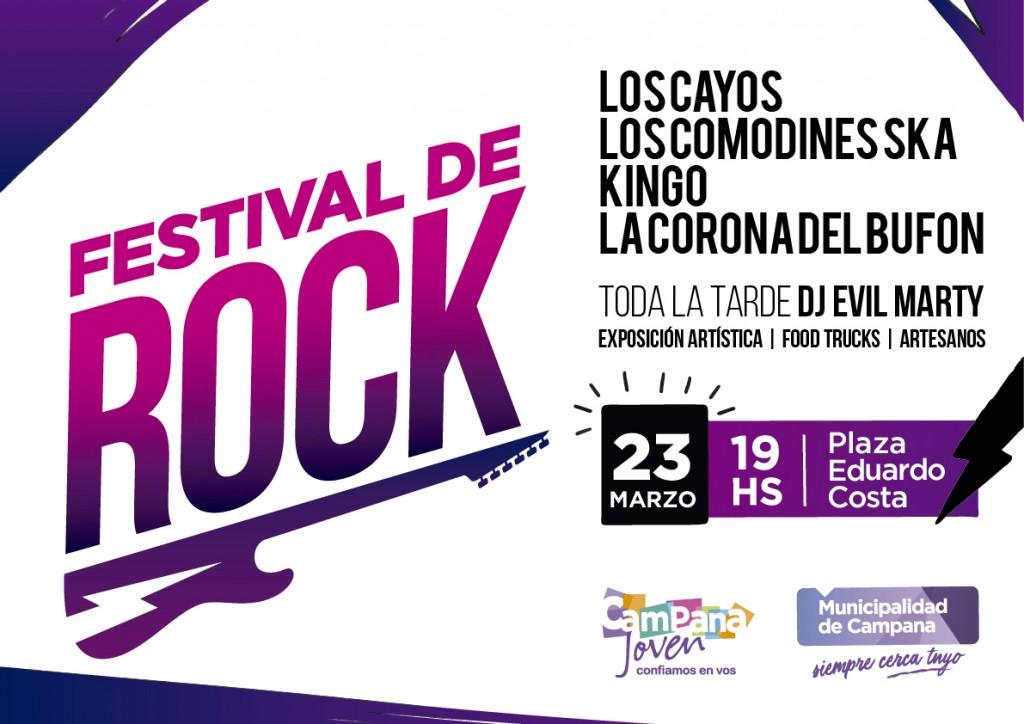 Un nuevo festival de rock llega a la plaza Eduardo Costa