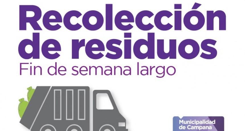 El martes no habrá recolección de residuos