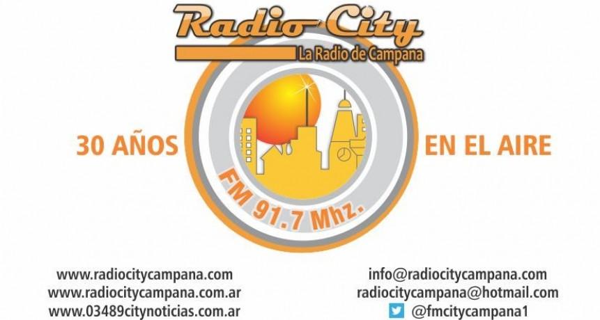 RADIO CITY CAMPANA FM 91.7 Mhz CUMPLE HOY  30 AÑOS EN EL AIRE