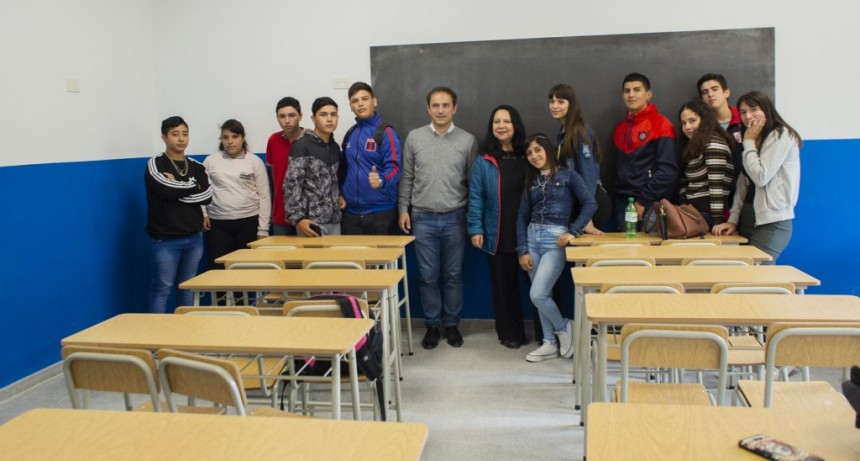 Villanueva: inauguran importantes obras en la Escuela Secundaria Nº 20