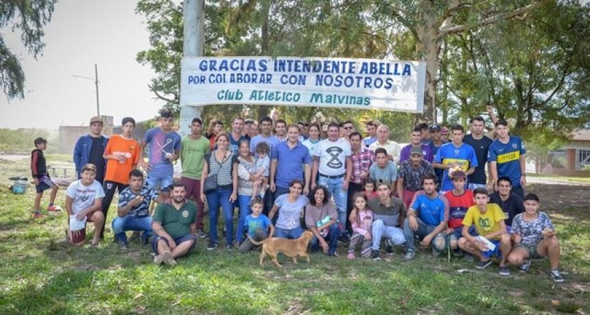 """Se inauguró la nueva cancha """"Club Atlético Malvinas"""""""