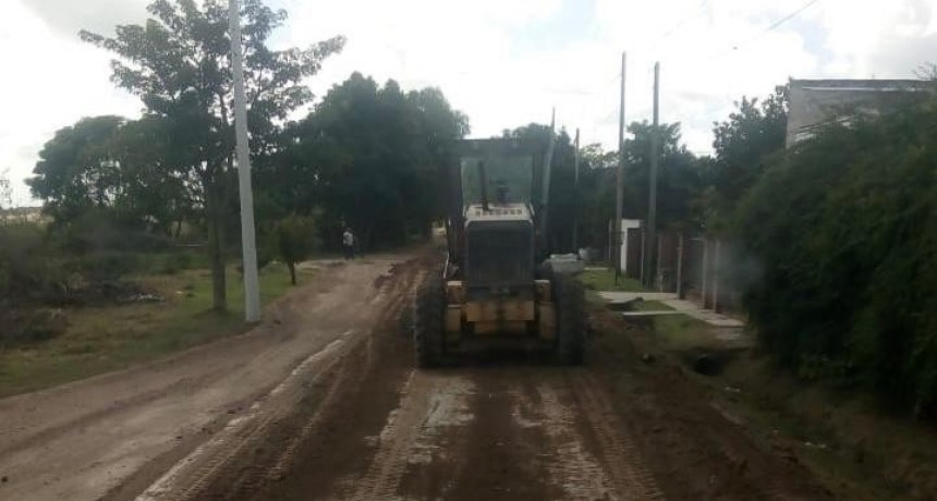 En San Jacinto, continúan los trabajos de mantenimiento integral
