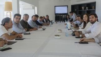 Vidal cierra el encuentro con el gabinete en Chapadmalal