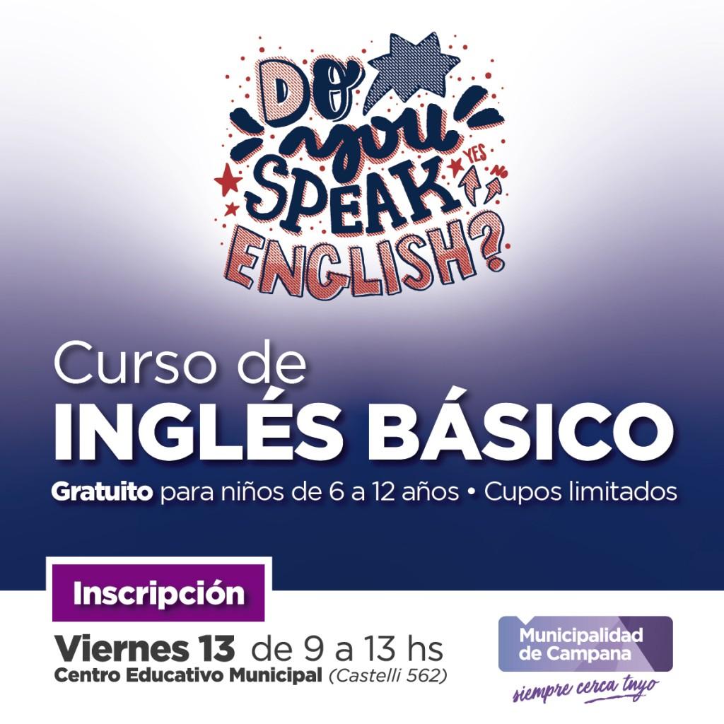 Este viernes se realizará la inscripción al curso básico de ingles