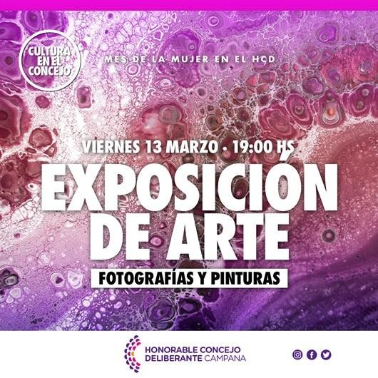 Mes de la Mujer: este viernes habrá una exposición artística en el HCD
