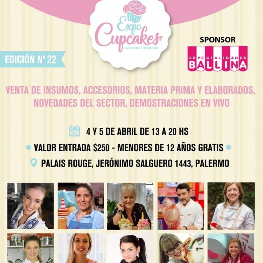 En abril llega la edición Nº 22  de Expo Cupcakes y Repostería