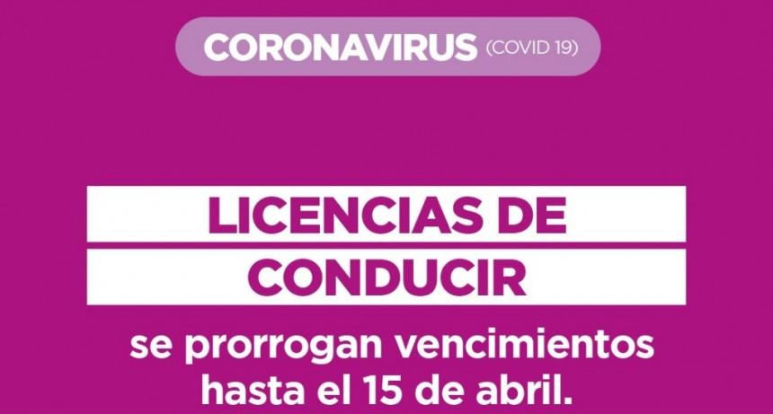 Se prorroga el vencimiento de las licencias de conducir hasta el 15 de abril