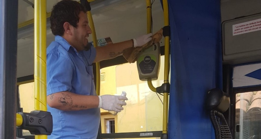 Transporte público: las empresas locales refuerzan las tareas de higiene