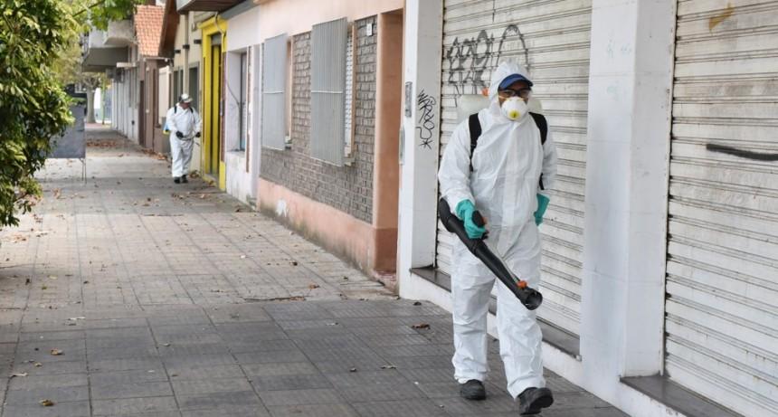 Coronavrius: el Municipio realizó un importante operativo de desinfección