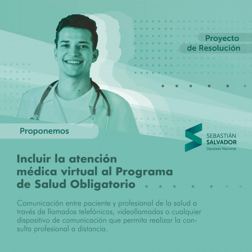 Proponen incluir la atención médica virtual al Programa de Salud Obligatorio
