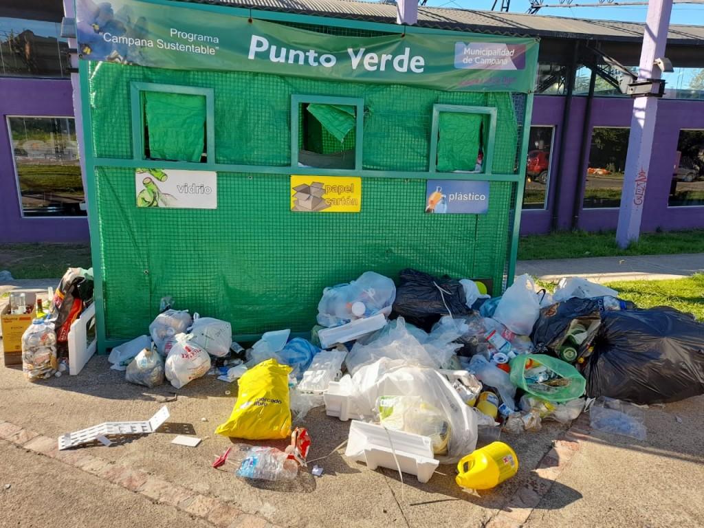 Puntos Verdes: desde el Municipio solicitan mantener el orden y la limpieza