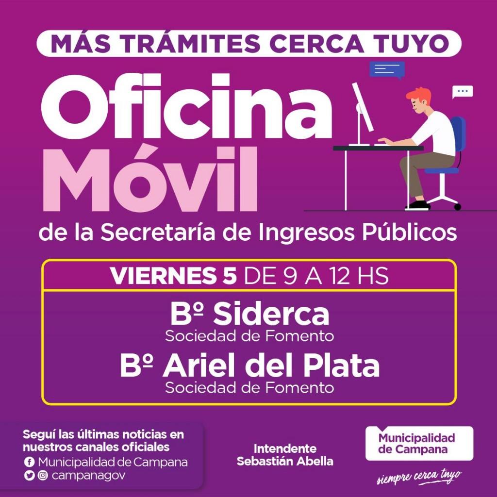 El Municipio asesorará sobre el pago de tasas y servicios con una : oficina móvil